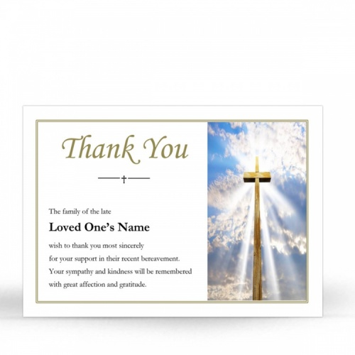 REG06 Memorial Thank You Card